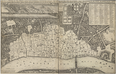 Map of Great Fire of London Copyright © The British Library Board.