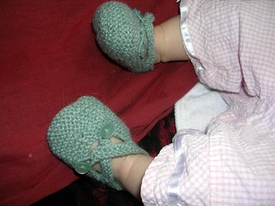 Calista's new booties