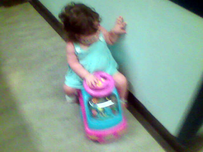 Jasmine on her little mobile