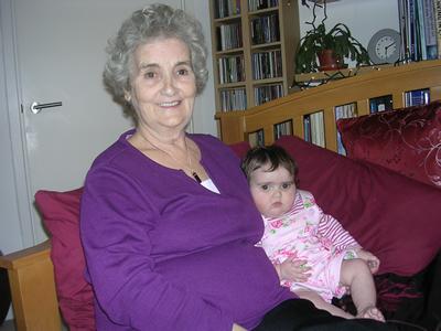 Grandma and Jasmine relaxing