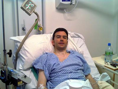 Neil post surgery