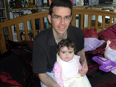 Jasmine and Neil on the settee