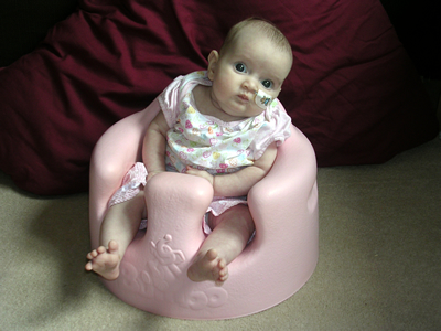Jasmine in her new chair