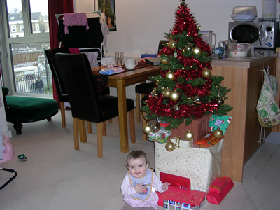 Jasmine and the Christmas tree