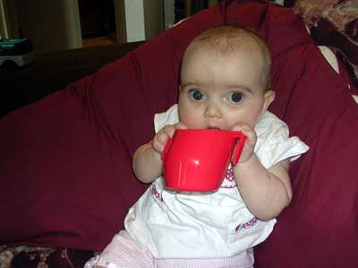 Jasmine with her doidy cup