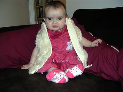 Jasmine in her new fur coat