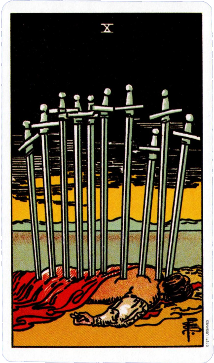 Rider Waite Tarot Ten of Swords