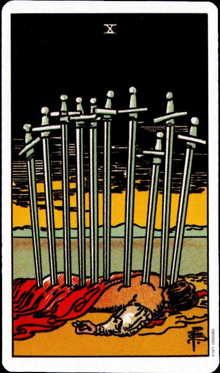 Rider Waite Tarot Ten of Swords