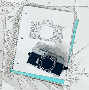 cultural probe pic - camera and a diary