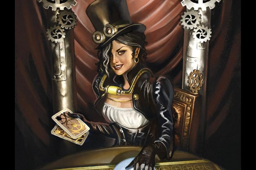 The High Priestess from the Steampunk Tarot by Barbara Moore and Aly Falls