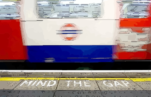 pic of mind the gap on tube