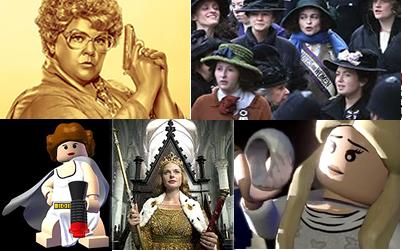 Spy, Suffragette, Galadriel, White Queen, Princess Leia Pics
