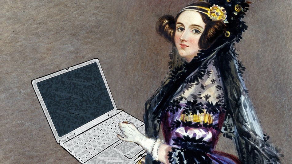 Ada Lovelace and her laptop