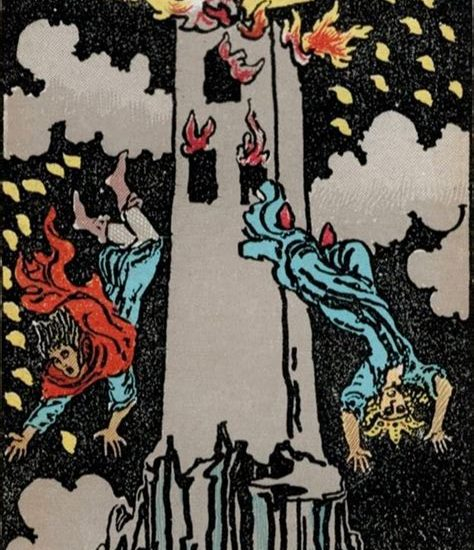 The Tower in the Rider Waite Smith Tarot Deck